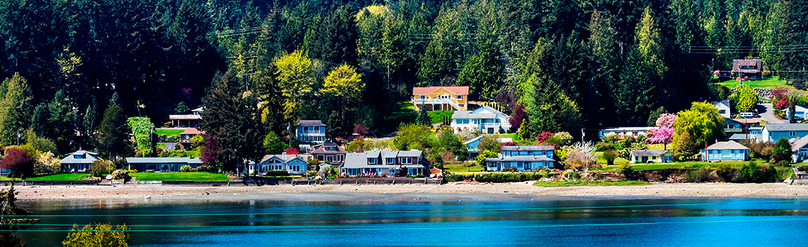 Poulsbo, Washington homes on the waterfront